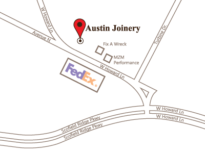 Image of a map of Austin Joinery's location