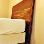 midcentury modern bed headboard detail