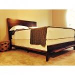 midcentury modern walnut bed 1
