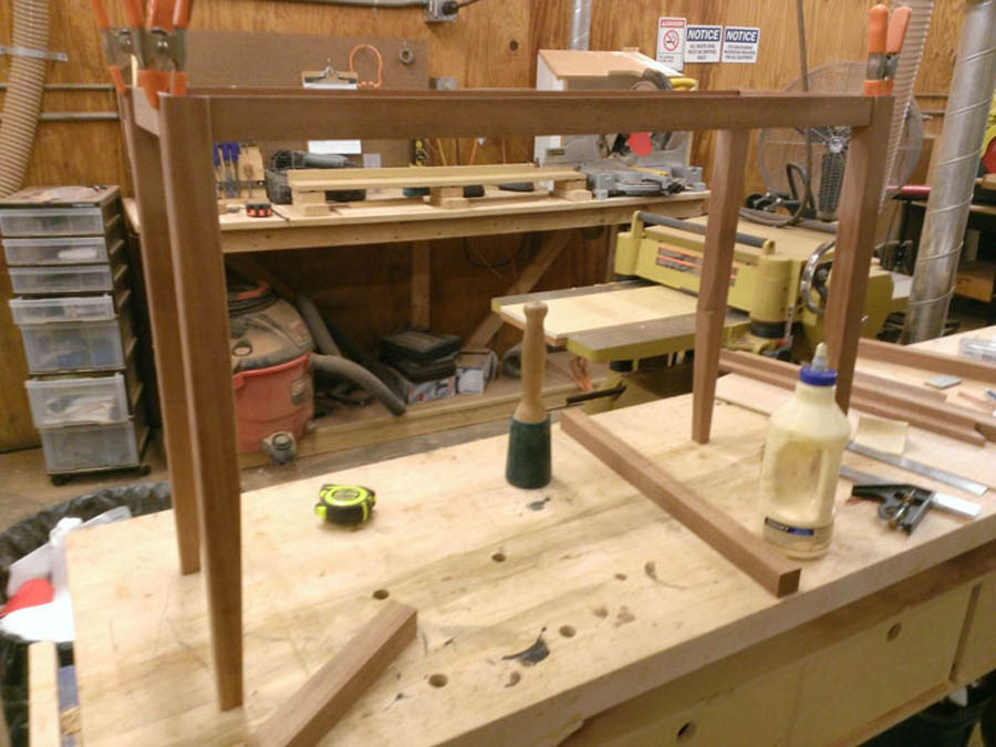 This is the photo of the build process for the Antique Shotgun Cast Stand.