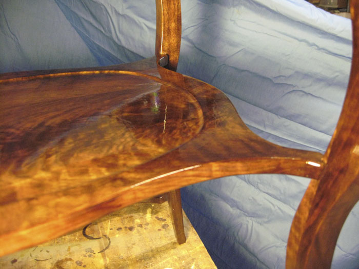 This is an image of the Brazos End Table build process.