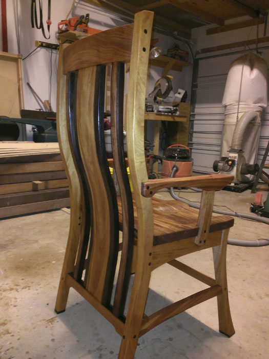 This is an image of the Sabine Executive Chair by Austin Joinery.