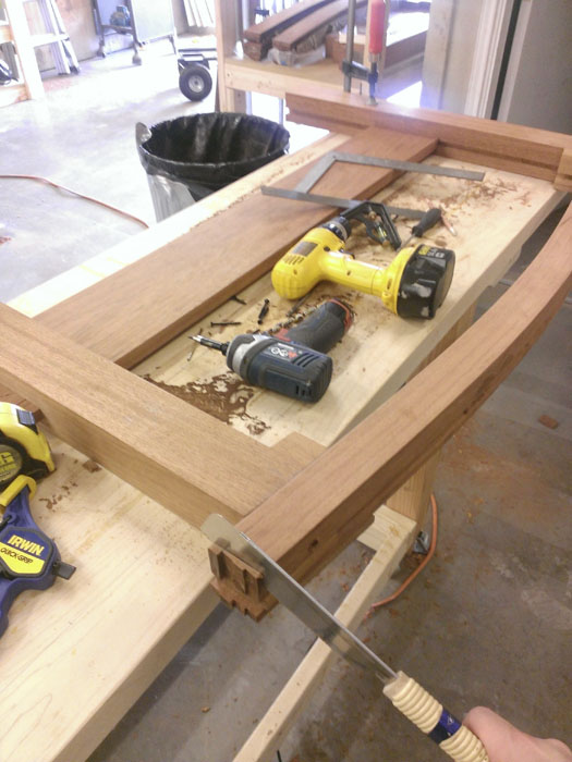 This is an image of Austin Joinery's Colorado Bed build process.