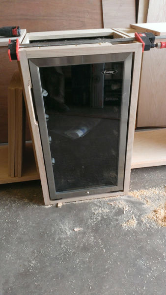 This is a pic of the build process of the Reception Cabinets for Manchaca Village Veterinarian