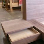 This is an image of the build process for Austin Joinery's Walnut Euro Bed