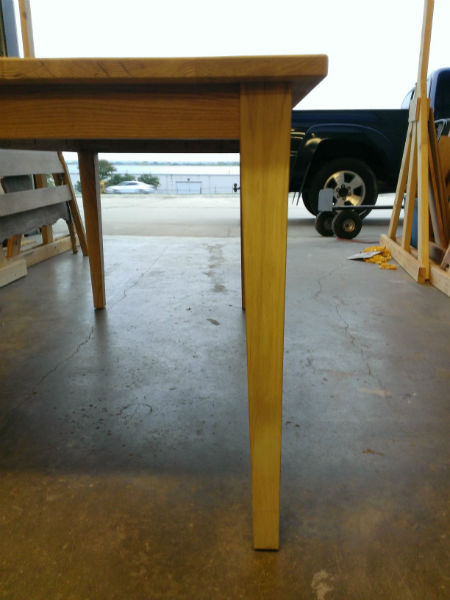 This is an image of how Austin Joinery's Custom White Oak Farmhouse Table was built.