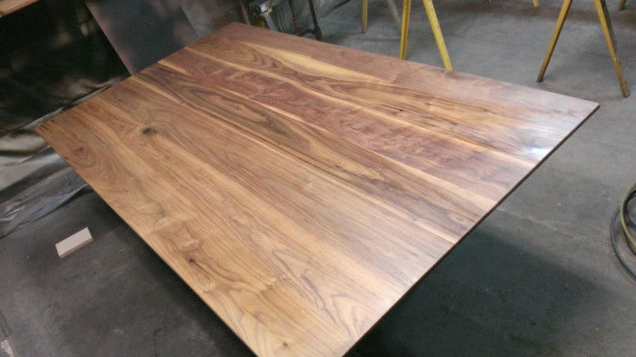 Image of Austin Joinery's Modern Walnut Dining Table build process.