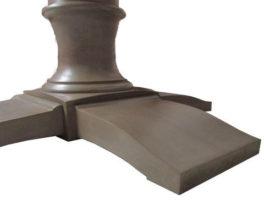 Image of Austin Joinery's Custom Made Round Mahogany Table with Grey Wash Coat