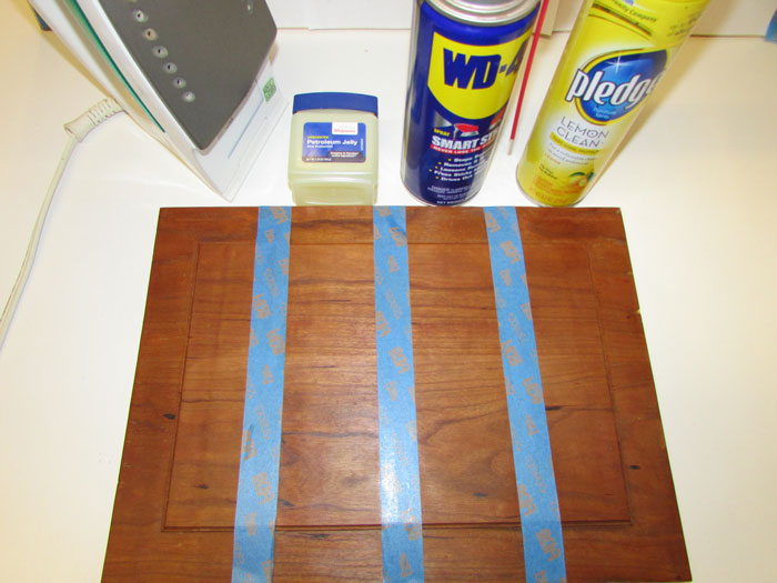 This is an image of the solutions used for removing a watermark from furniture - from the blog of Austin Joinery.