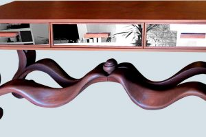 The Ribbon Side table is one of our signature custom furniture pieces.